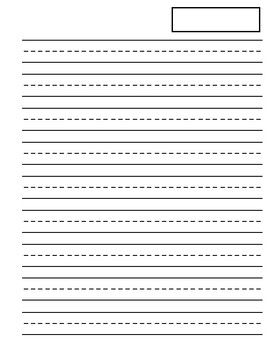 Big lined writing paper