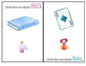 Big or Little Adapted Book for SPED Alice in Wonderland Themed