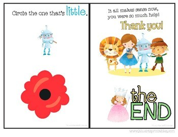 Big or Little Adapted book for SPED Wizard of Oz Themed