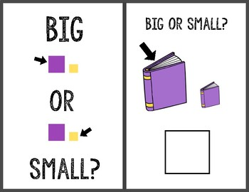 Big or Small Adapted Book