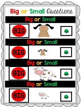 Big or Small Question Book
