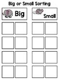Big or Small Sorting Interactive Board
