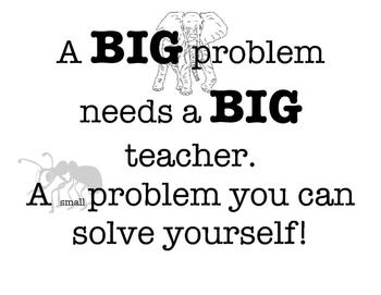 Big problem or small problem
