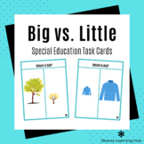 Big vs. Little - Special Education Task Cards - Distance Learning