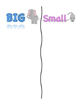 Big vs. Small Concept/AAC Core Word Adapted Book