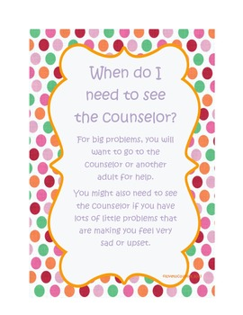 Big vs. Small Problems:  When Do I Need to See the Counselor?