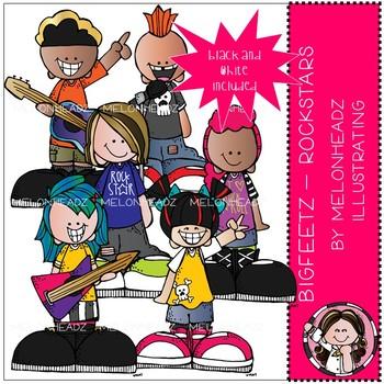 Bigfeetz clip art - Rockstars - Mini - Melonheadz Illustrating