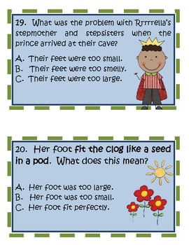 Bigfoot Cinderella Comprehension Activities