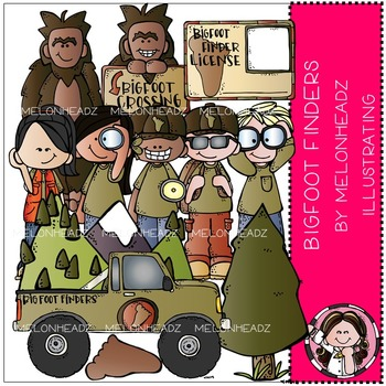Bigfoot Finders clip art - COMBO PACK- by Melonheadz