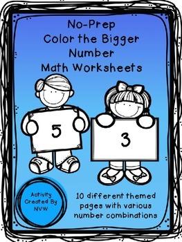 Bigger Number Coloring Worksheets