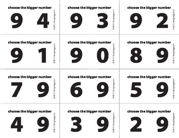 Bigger Number Flash Cards (0-10) - BW