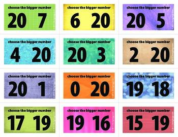 Bigger Number Flash Cards (0-20)