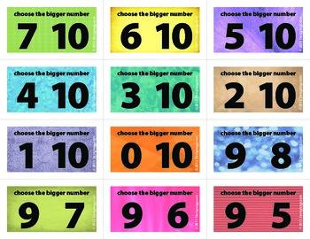 Bigger Number Flash Cards (0-10)