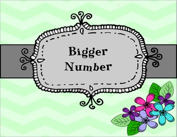 Bigger Number-Inspired by Debbie Diller's Math Work Stations