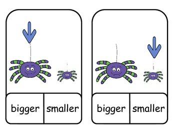 Bigger; Smaller; Clothespins; Center; Measurement; Math; Kindergarten; Autism