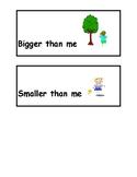 Bigger Than Me/Smaller Than Me Labels