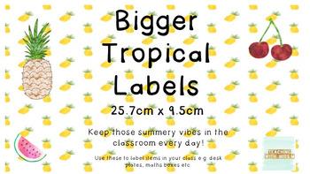 Bigger Tropical Labels