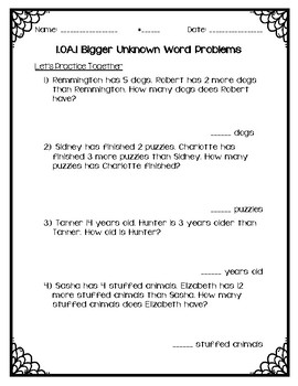 Bigger Unknown Word Problems