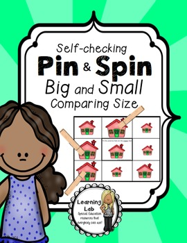 Bigger and Smaller (Comparing Size) - A Pin & Spin Activity
