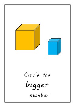 Bigger and smaller shapes adapted book