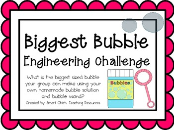 Biggest Bubble: Engineering Challenge Project ~ Great STEM