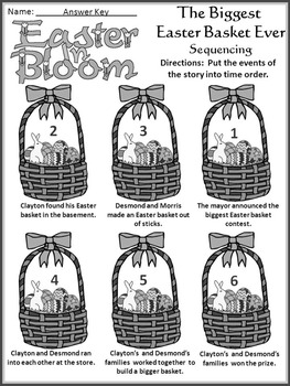 Easter Language Arts Activities: The Biggest Easter Basket Ever Activity Packet
