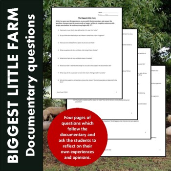 Biggest Little Farm (Hulu & Amazon) Documentary Questions and Answers (Editable)