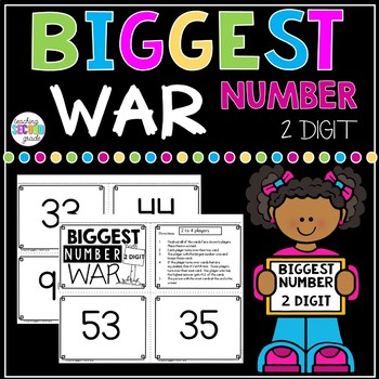 Biggest Number 2 Digit War Math Game