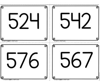 3 Digit Numbers Game