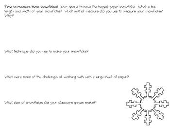 Biggest Paper Snowflake ~ Monthly STEAM School-wide Challenge