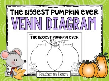 Biggest Pumpkin Ever Venn Diagram Freebie