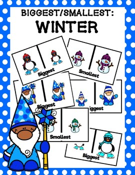 Biggest/Smallest Clip Cards: Winter