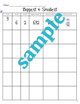 Biggest & Smallest - Subtraction with Regrouping