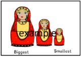 Biggest and smallest Superlatives Worksheet + Doll colouring sheet