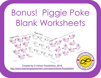 Piggie Clipart With Bonus Poke Worksheet Templates