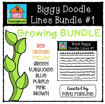 Biggy Doodle Lines Growing Bundle #1 {P4 Clips Trioriginal