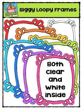 Biggy Loopy Frames {P4 Clips Trioriginals Digital Clip Art}