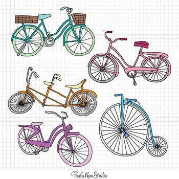 Clipart - Bikes