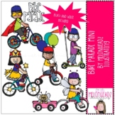 Bike Parade clip art - Mini - by Melonheadz