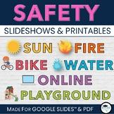 Bike, Playground, Fire, Sun, Water SAFETY Slideshow - Google Slides™