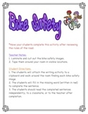 Bike Safety - Write the Room and/or Writing Activity