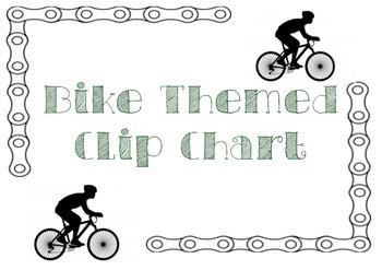 Bike Theme Clip Chart