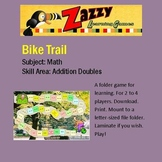 Bike Trail Folder Game for Addition of Doubles