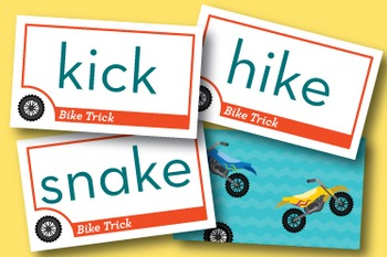 Bike Trick Sounds of K Phonics Game - Words Their Way Game