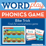 Bike Trick Sounds of K Phonics Game
