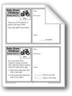 Bikes (Grade 2 Daily Word Problems-Week 21)