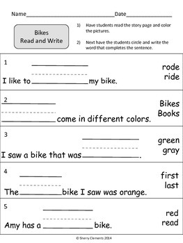 Bikes Read and Write