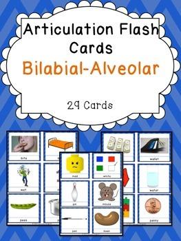 Apraxia & Articulation Cards Bilabial-Alveolar
