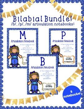 Bilabial Articulation Notebooks Bundle - Complete Set!