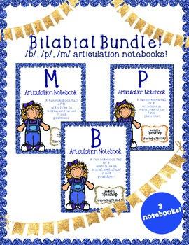 Bilabial Articulation Notebooks Bundle - Complete Set!
